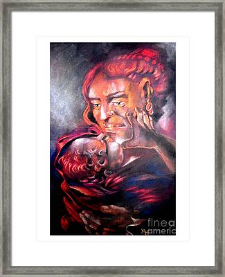 The Sick Child Framed Print