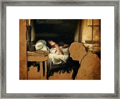 The Sickbed Framed Print by H James Hoff