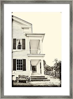 The Side Of The House Framed Print by Margie Hurwich