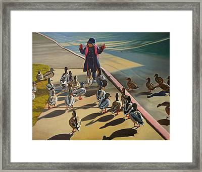 The Sidewalk Religion Framed Print