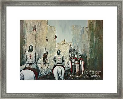 The Siege Of Ascalon Framed Print