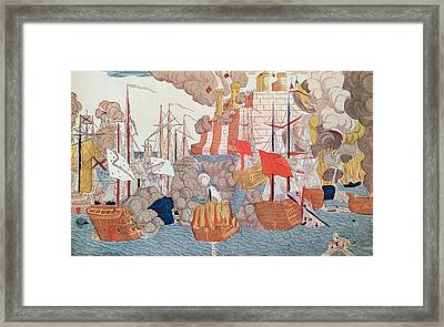 The Siege Of Navarino Framed Print by French School