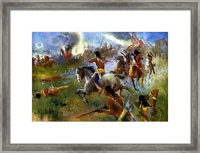 The Siege Of New Ulm Minnesota  Framed Print by Henry Schwabe
