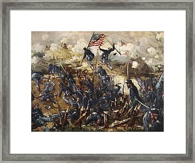 The Siege Of Vicksburg, May 18th - July Framed Print by Henry Alexander Ogden