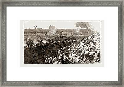 The Siege Operations At Chatham Framed Print