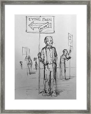 the Sign boys Framed Print