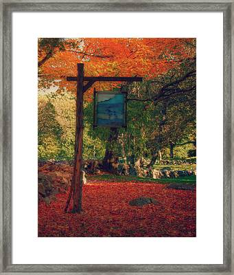 The Sign Of Fall Colors Framed Print