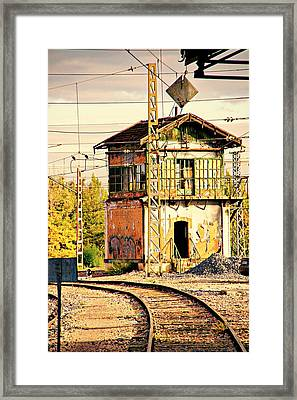 The Old Signal Box Framed Print