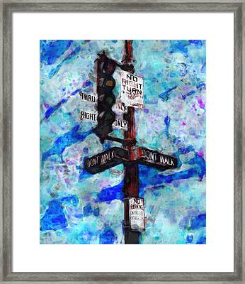 The Signal Framed Print by Jack Zulli