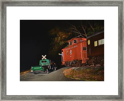 The Signal Framed Print by Lee Alban