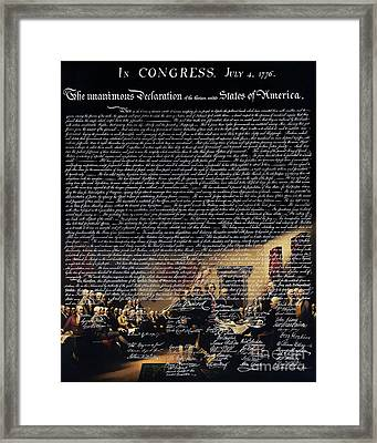 The Signing Of The United States Declaration Of Independence V2 Framed Print by Wingsdomain Art and Photography