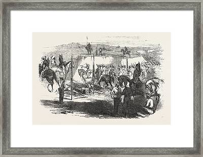 The Sikh Cavalry Deliveling Up Their Arms At Rawul Pindee Framed Print