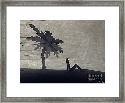 The Silence Before The Storm Framed Print by Sina Souza