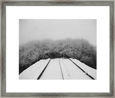 The Silence Of Winter Framed Print by James Rishel