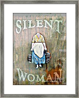 The Silent Woman Framed Print by Steven Digman