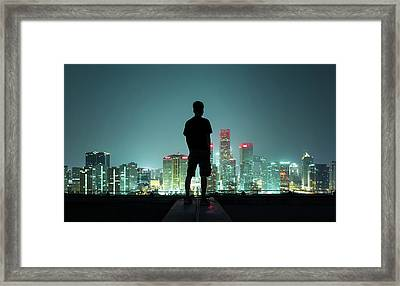 The Silhouette Portrait Framed Print by Dukai Photographer