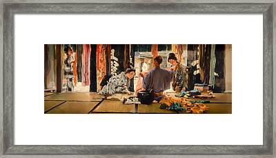The Silk Merchant Japan Framed Print by Mountain Dreams