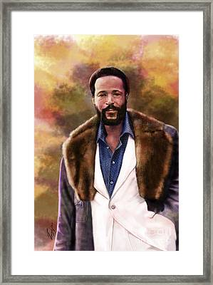 The Silky Silky Soul Singer - Marvin Gaye  Framed Print