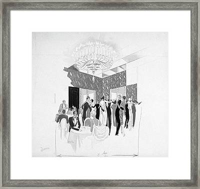 The Silver Room Of The Casino In Central Park Framed Print