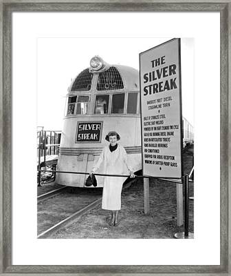 The Silver Streak Train Framed Print by Underwood Archives