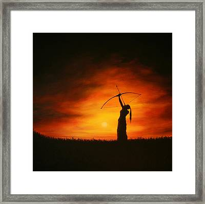 The Simple Act Of Aiming High Framed Print