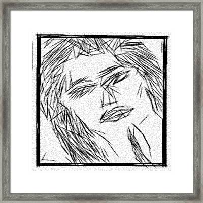 The Simple Grace Of And Beauty Of The Female Form Framed Print