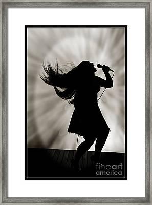 The Singer  6100.1 Framed Print by M K  Miller