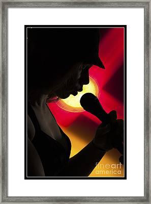 The Singer 1002.02 Framed Print by M K  Miller
