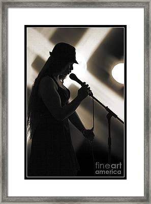 The Singer 1003.01 Framed Print by M K  Miller