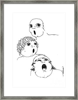 The Singers Framed Print