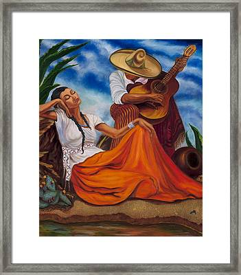 The Singers Framed Print by Maria Gibbs