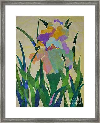 The Single Iris Framed Print
