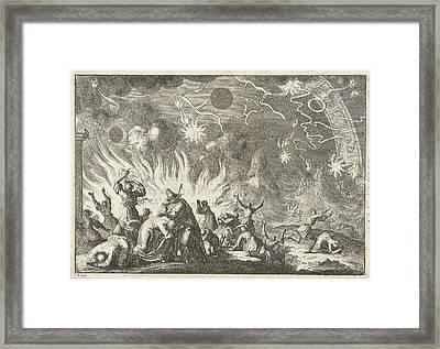 The Sinking Of The Earth, Jan Luyken, David Ruarus Framed Print