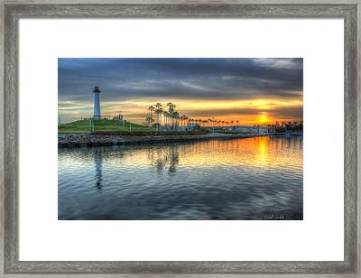 The Sinking Sun Framed Print by Heidi Smith