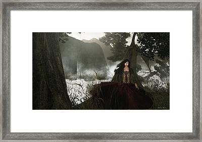 The Siren's Isle Framed Print