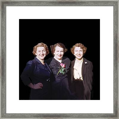 The Sisters, 2008 Framed Print by Marjorie Weiss