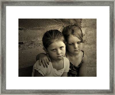The Sisters Framed Print by Julie Dant