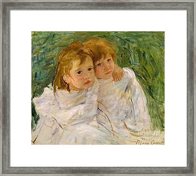 The Sisters Framed Print by Mary Cassatt