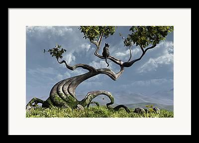 The Trees Digital Art Framed Prints