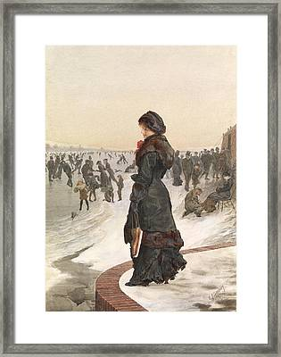 The Skater Framed Print by Edward John Gregory