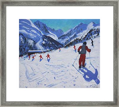 The Ski Instructor Framed Print by Andrew Macara