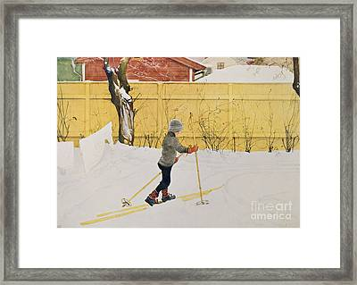 The Skier Framed Print