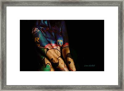 The Skin I'm In Framed Print by Donna Blackhall