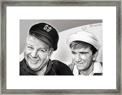 The Skipper And Gilligan Framed Print