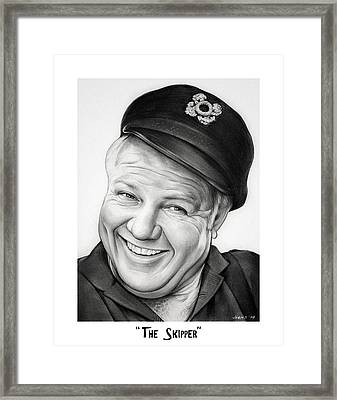 The Skipper Framed Print