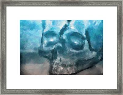 The Skull Framed Print by Tommytechno Sweden