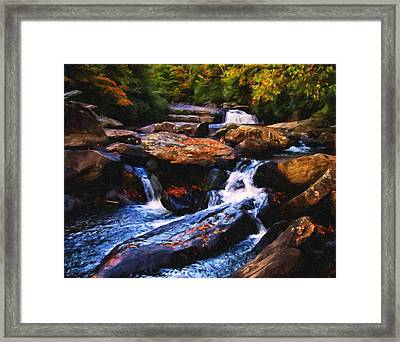 The Skull Waterfall Framed Print