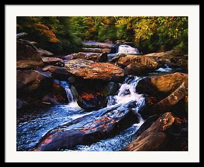 Fall Scenes Mixed Media Framed Prints