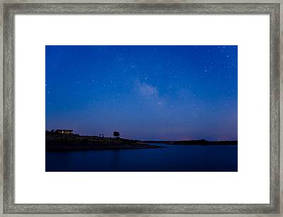 The Sky And The Lake Framed Print by Alexandre Martins