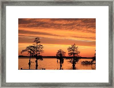 The Sky At Sunset Framed Print by Carolyn Ricks
